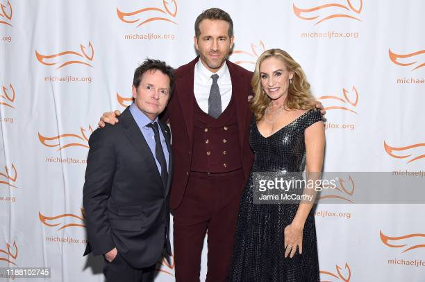 Michael J Fox Ryan Reynolds and Tracy Pollan attend A Funny Thing Happened On The Way To Cure Parkinson's benefitting The Michael J Fox Foundation on...