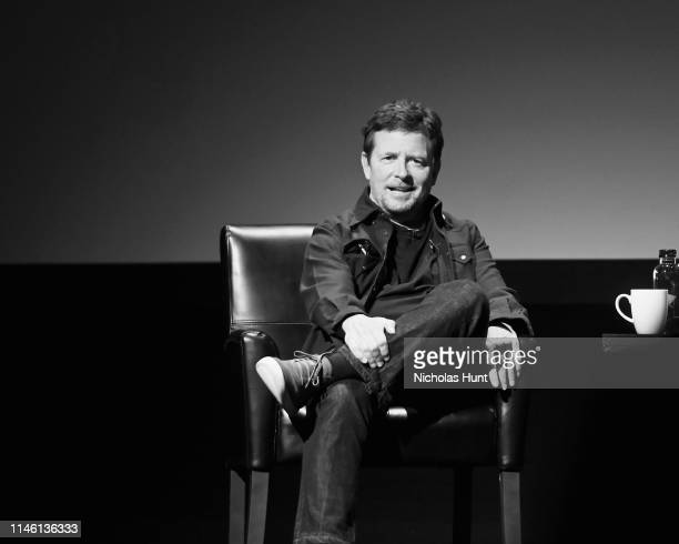 Michael J Fox speaks at the Tribeca Talks Storytellers 2019 Tribeca Film Festival at BMCC Tribeca PAC on April 30 2019 in New York City