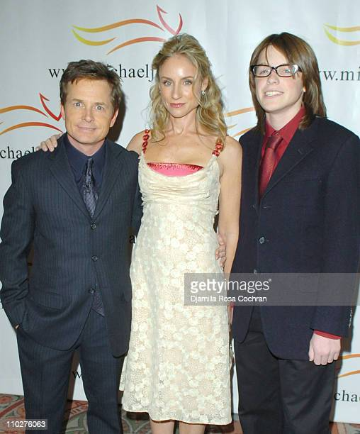 Michael J Fox Tracy Pollan and Sam Michael Fox during A Funny Thing Happened on the Way to Cure Parkinson's Benefit for The Michael J Fox Foundation...