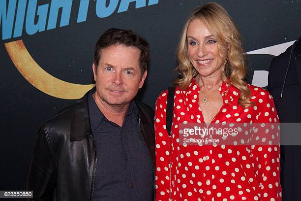 Michael J Fox Tracy Pollan attend 'Nightcap' Premiere Party at Crosby Street Hotel on November 15 2016 in New York City