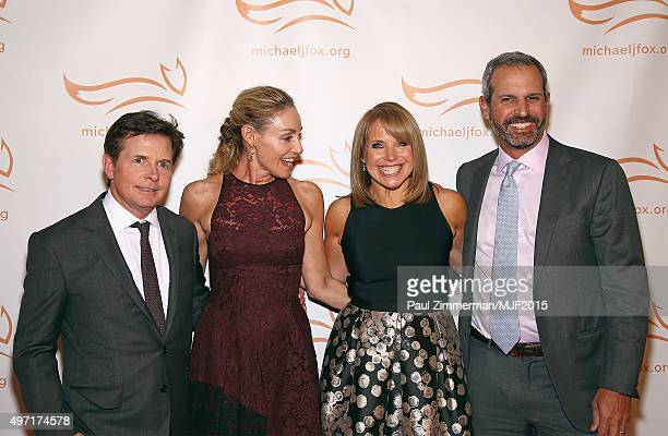 """Michael J. Fox, Tracy Pollan, Katie Couric and John Molner attend the Michael J. Fox Foundation """"A Funny Thing Happened On The Way To Cure..."""