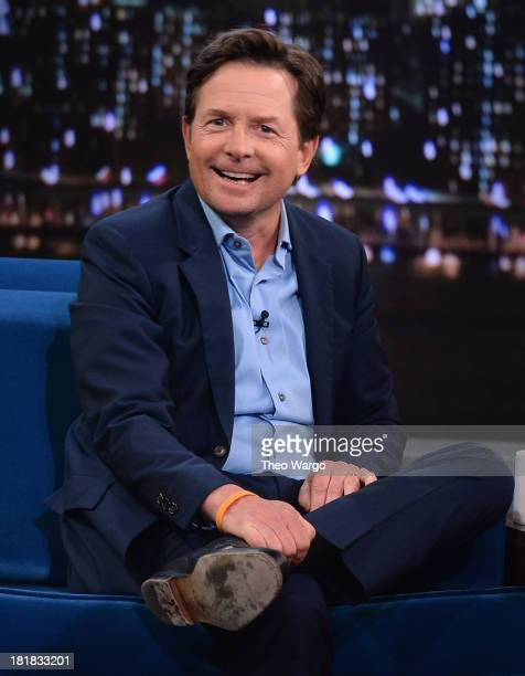 Michael J Fox visits Late Night With Jimmy Fallon at Rockefeller Center on September 25 2013 in New York City