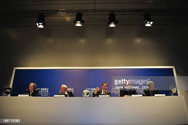 Michael J Garcia Chairman of the investigatory chamber of the FIFA Ethics Committee talks to the media during the 63rd FIFA Congress press Conference...