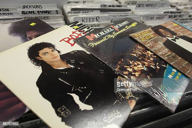 Michael Jackson albums are displayed inside A1 Records on June 26 2009 in New York New York Michael Jackson a musical pop icon died yesterday in Los...