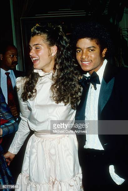 Michael Jackson and Brooke Shields attend the 53rd annual Academy Awards on March 31 1981 in Los Angeles, California.