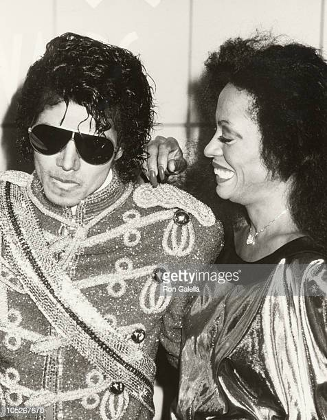 Michael Jackson and Diana Ross during 11th Annual American Music Awards at Shrine Auditorium in Los Angeles California United States