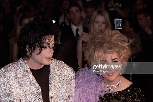 Michael Jackson and Elizabeth Liz Taylor at the Michael Jackson 30th Anniversary Celebration The Solo Years at Madison Square Garden in New York City...