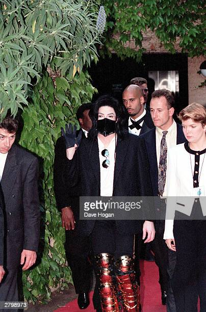 Michael Jackson and entourage arrive at the Monte Carlo World Music Awards held in Monte CarloMonaco during 1997