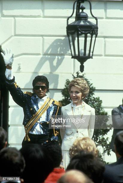 Michael Jackson and First Lady Nancy Reagan at the White House circa 1984 in Washington DC