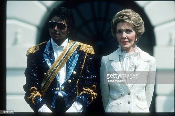 Michael Jackson and First Lady Nancy Reagan stand May 4 1984 at the White House Jackson began singing professionally at the age of eight and achieved...