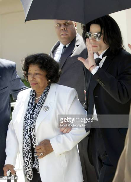 Michael Jackson and his mother Katherine leave Santa Barbara County Superior Court in Santa Maria Calif Monday June 13 after he was acquitted in his...
