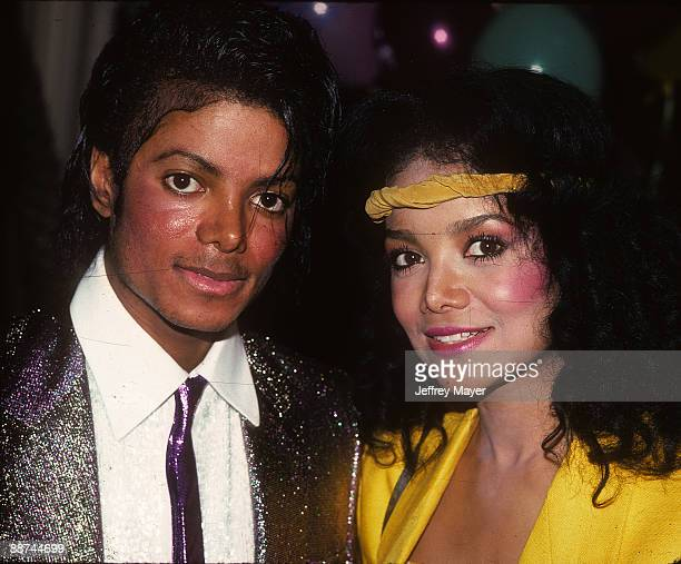 Michael Jackson and La Toya Jackson attend their mother Katherine Jackson's birthday party on May 4 1984 at a private location in Los Angeles...