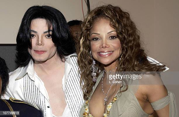 Michael Jackson and LaToya Jackson during The 3rd Annual BET Awards Backstage and Audience at The Kodak Theater in Hollywood California United States