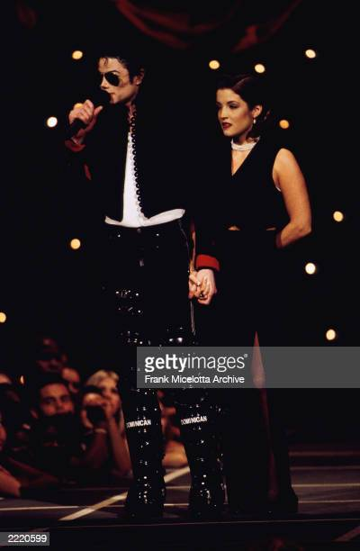 Michael Jackson and Lisa Marie Presley at the 1994 MTV Video Music Awards in Los Angeles CA on September 8 1994