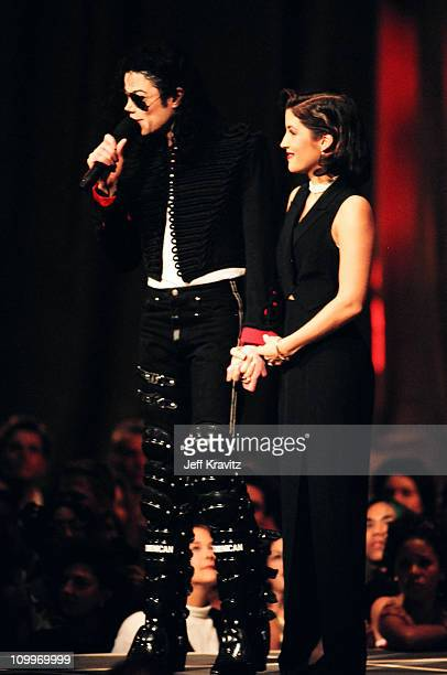 Michael Jackson and Lisa Marie Presley during 1994 MTV Video Music Awards at Radio City Music Hall in New York City New York United States