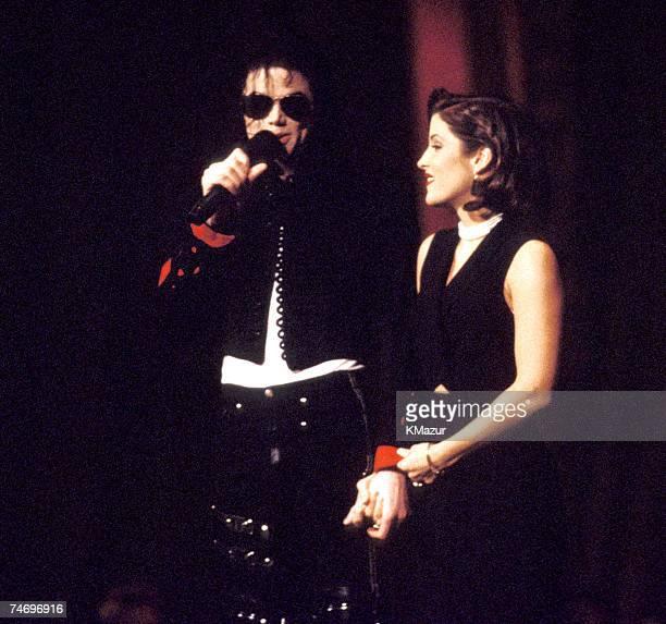 Michael Jackson and Lisa Marie Presley in New York City New York