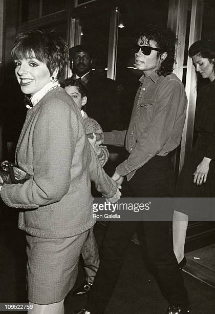 Michael Jackson and Liza Minnelli during Michael Jackson and Liza Minnelli Attending 1988 Performance of The Phatom of the Opera at Majestic Theater...
