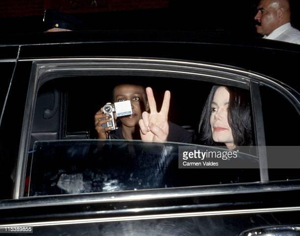 Michael Jackson and Lola of Vibe Magazine during Michael Jackson Fan Club Tribute 30 Years of Magic at Webster Hall in New York City New York United...