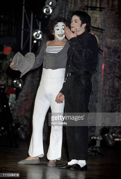 Michael Jackson and Marcel Marceau during Michael Jackson On Stage at the Beacon Theater at The Beacon Theater in New York City, New York, United...