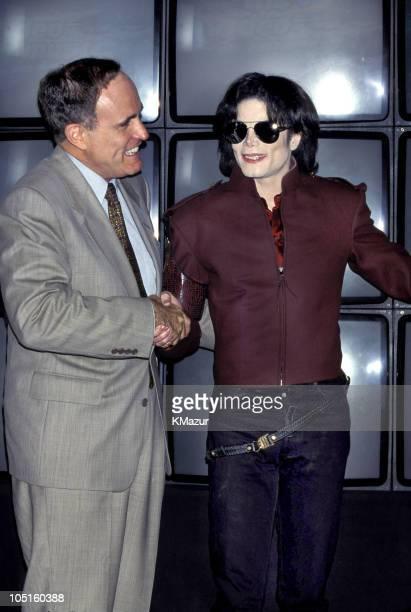 Michael Jackson and New York City Mayor Rudolph Giuliani
