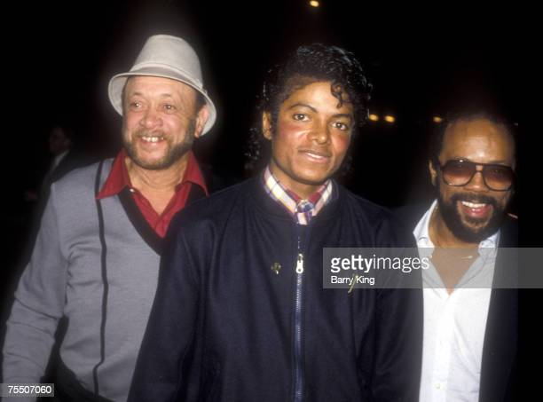 Michael Jackson and Quincy Jones at the Dorothy Chandler Pavilion in Los Angeles CA