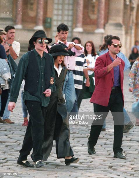 PARIS Michael Jackson and wife Lisa Marie Presley in 1995 at Versailles France