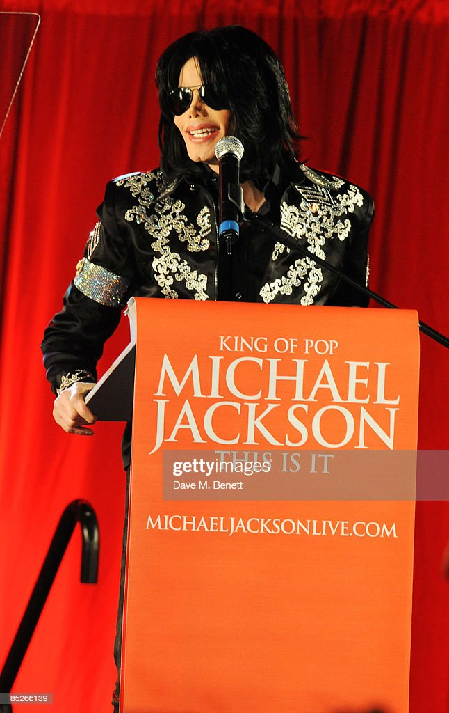 Michael Jackson announces plans for Summer residency at the O2 Arena at a press conference held at the O2 Arena on March 5, 2009 in London, England.