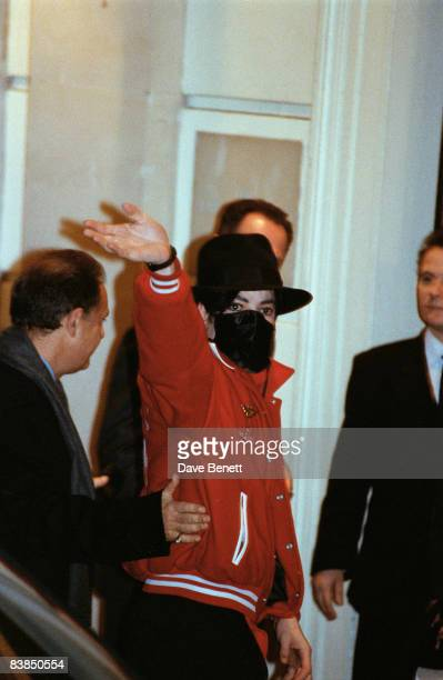 Michael Jackson arrives at the Lanesborough Hotel in London for the BRIT awards 16th February 1996