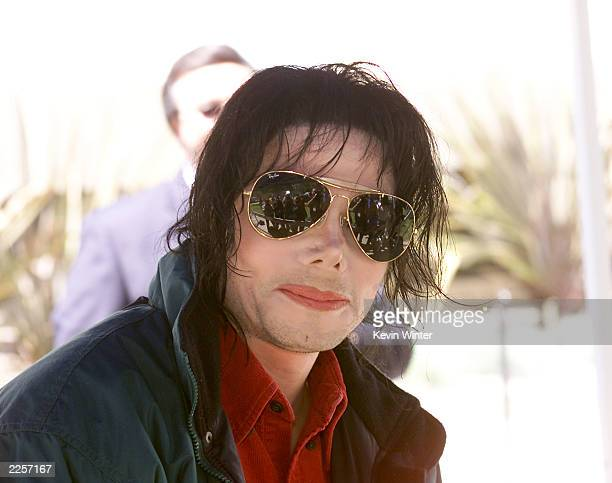 Michael Jackson arrives at the Pasadena Civic Auditorium in Pasadena Ca to tape his performance for Dick Clark's American Bandstand's 50thA...