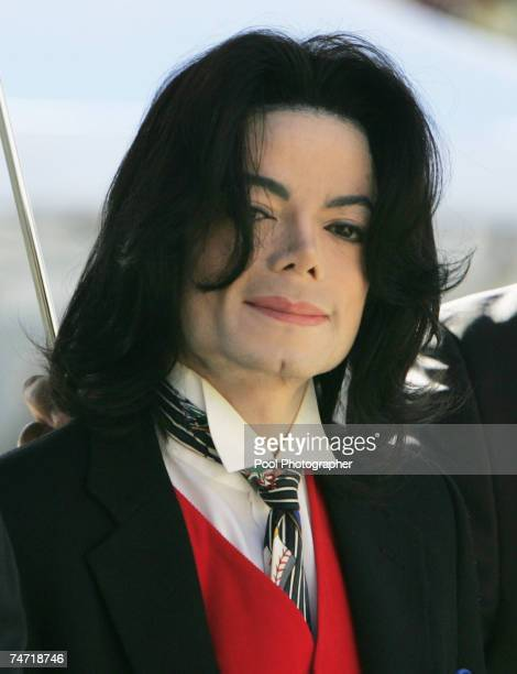 Michael Jackson arrives at the Santa Barbara County courthouse April 29 in Santa Maria California for another day in his child molestation trial