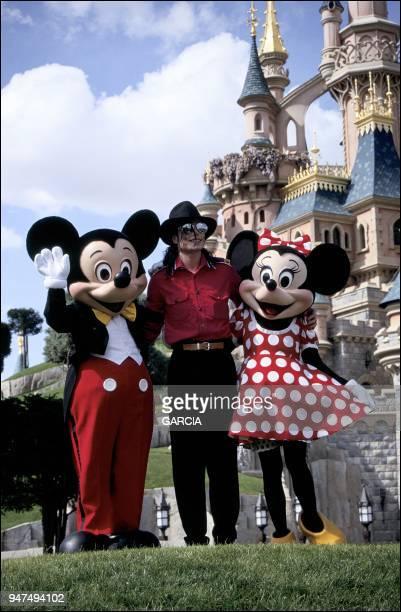 Michael Jackson at Eurodisney, 1992.