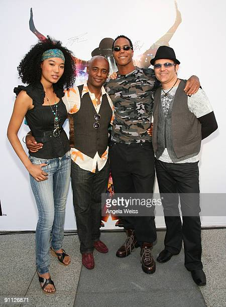 Michael Jackson backing vocalists Judith Hill Dorian Holley Darryl Phinnessee and Ken Stacey reunite at LA Live on the day fans began to line up for...