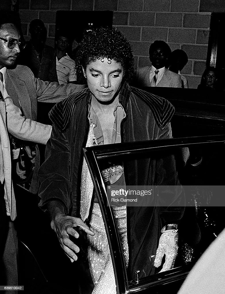 Michael Jackson Backstage During The Jacksons Triumph Tour At Omni Coliseum In Atlanta Georgia July