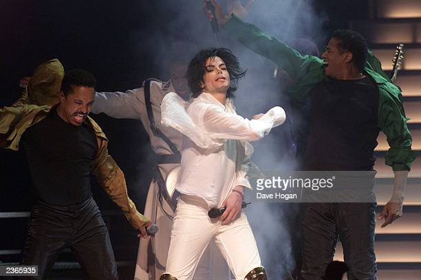 Michael Jackson Brothers at the Michael Jackson 30th Anniversary Celebration The Solo Years at Madison Square Garden in New York City on 9/7/2001...