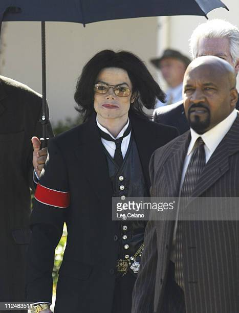 Michael Jackson departs Santa Barbara County Superior Court in Santa Maria California on the day of opening statements February 28 2005 The...
