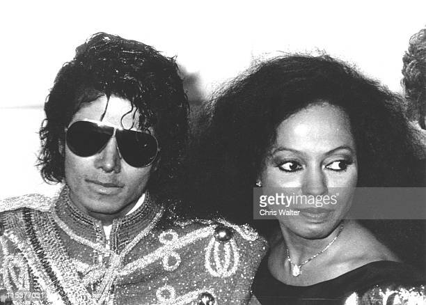 Michael Jackson Diana Ross 1984 during 11th Annual American Music Awards at Shrine Auditorium in Los Angeles California United States
