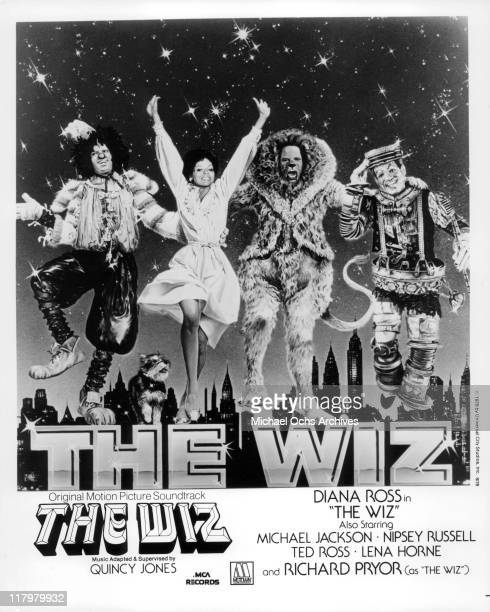 Michael Jackson Diana Ross Ted Ross Nipsey Russell in publicity art for the film 'The Wiz' 1978