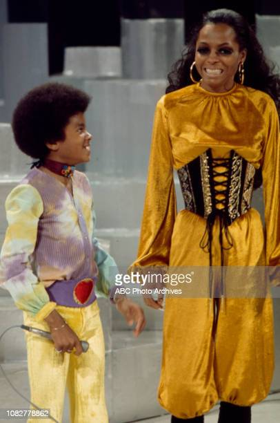 Michael Jackson Diana Ross The Jackson Five appearing in the Walt Disney Television via Getty Images tv special 'Diana'