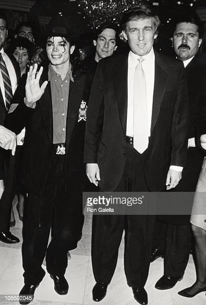 Michael Jackson Donald Trump during Opening of Donald Trump's Taj Mahal Casino April 5 1990 at Taj Mahal Hotel and Casino in Atlantic City New Jersey...