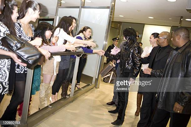 Michael Jackson during Michael Jackson and His Children Arrive in Japan March 4 2007 at Narita International Airport in Narita Japan