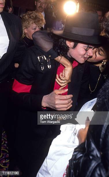 Michael Jackson during Michael Jackson at the grand opening of Donald Trump's Taj Mahal Casino at Taj Mahal Casino in Atlantic City New Jersey United...