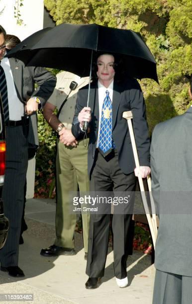 Michael Jackson during Michael Jackson Court Hearing December 4 2002 at Santa Barbara Court House in Santa Maria California United States
