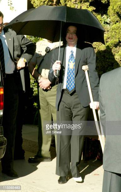 Michael Jackson during Michael Jackson Court Hearing December 4 2002 at Santa Barbara Court House in Santa Maria California United States