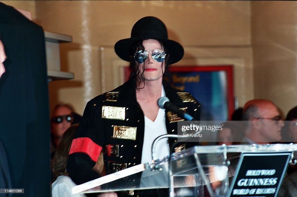 Michael Jackson during Michael Jackson is Honored With Hollywood Walk of Fame in Hollywood, CA, United States.