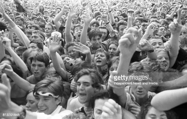 Michael Jackson fans at the Concert in Lansdowne Road, Dublin, .