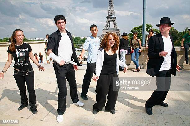 Michael Jackson fans dance the 'Moon Walk' on the Trocadero place on June 28 2009 in Paris France Jackson the iconic pop star died after going into...