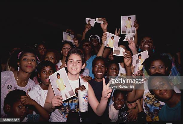 Michael Jackson Fans Holding His Picture