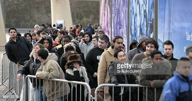 Michael Jackson fans queue at the O2 centre for tickets to his summer concerts in London, on March 13, 2009. Hundreds of Michael Jackson fans camped...