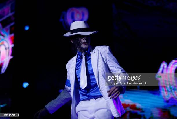 Michael Jackson imitating attends 'La Noche De Cadena 100' charity concert at WiZink Center on March 24 2018 in Madrid Spain