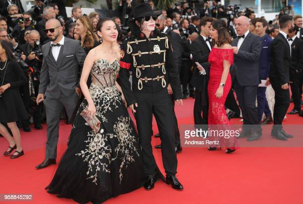 Michael Jackson impersonator attends the screening of 'Solo A Star Wars Story' during the 71st annual Cannes Film Festival at Palais des Festivals on...
